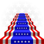 The stylized ladder. Flag of the USA — Stock Vector