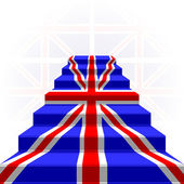 The stylized ladder. Flag of Great Britain — Stock Vector