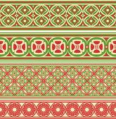 декоративный бесшовный границы — Cтоковый вектор