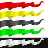Fluttering ribbons — Stock Vector