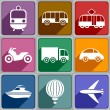 Transport icons — Stockvektor