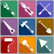 Icons of working tools — Stock Vector