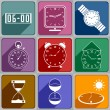 Stock Vector: Icons of different watch