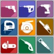 Icons of the electric tools — Stock Vector