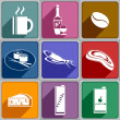 Icons of food and drinks  — Stock Vector #37170285