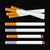 Cigarette on black — Stock Vector