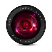 Red lens — Stock Vector