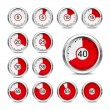 Icons timer — Vettoriale Stock