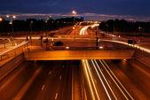 Feux de circulation sur l'autoroute — Photo
