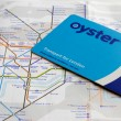 Oyster card and tube map — Stock Photo #18483171