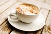 卡布奇诺咖啡 — 图库照片