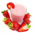 Stock Photo: Strawberry smoothie