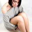 Sad abused woman - Stock Photo
