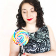 Retro woman with a lollipop — Stock Photo #41988425