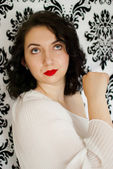Retro girl portrait — Stock Photo