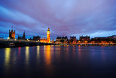 Big Ben and Houses of parliament at dusk — Foto Stock