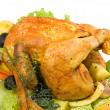 Stock Photo: roasted chiken