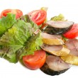 Smoked Mackerel with vegetables — Stock Photo