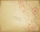 Floral pattern background vector illustration — Stock Vector