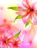 Abstract colorful background with flowers — ストックベクタ