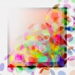 Abstract Vector Background - Colorful Transparent Lights — Stock Vector