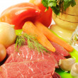 Fresh vegetables and beef — Stock Photo #12792573