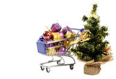 Shopping for Christmas — Stock Photo
