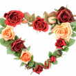 Stock Photo: Roses heart