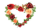 Roses heart — Stock Photo