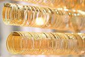 Golden bracelets — Stock Photo