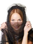 Beauty veiled girl — Stockfoto