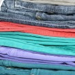 Colorful jeans — Stock Photo