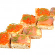 Red coviar and salmon — Stock Photo #8232810