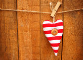 Striped heart — Stock Photo