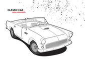 Classic car — Stock Vector