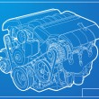 Stock Vector: Engine