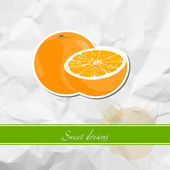 Ripe orange — Stock Vector