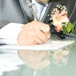 Wedding signature — Stock Photo #6011111