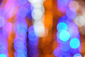 Bokeh abstract background, defocused varicolored texture — Stock Photo