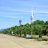 Reconstructed promenade in Batumi — Stock Photo