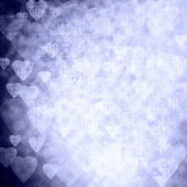 Blue texture with hearts, festive background — Photo