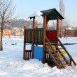 Stock Photo: Snowy playground