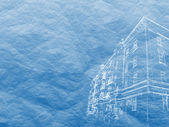 Building outline image on relief surface — Stock Photo