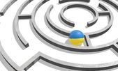 Ukraine in the maze of politic problems — Stock Photo