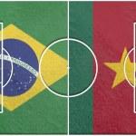 Постер, плакат: Brasil vs cameroon group a world cup 2014