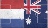 Netherlands vs australia group b world cup 2014 — Stock Photo