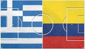 Greece vs colombia group c world cup 2014 — Stock Photo