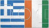 Greece vs ivory coast group c world cup 2014 — Stock Photo
