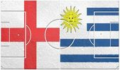 England vs uruguay group d world cup 2014 — Stock Photo