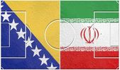 Bosnia and herzegovina vs iran group f world cup 2014 — Stock Photo